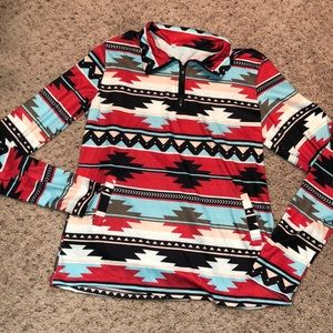 Tops - Tribal printed pullover